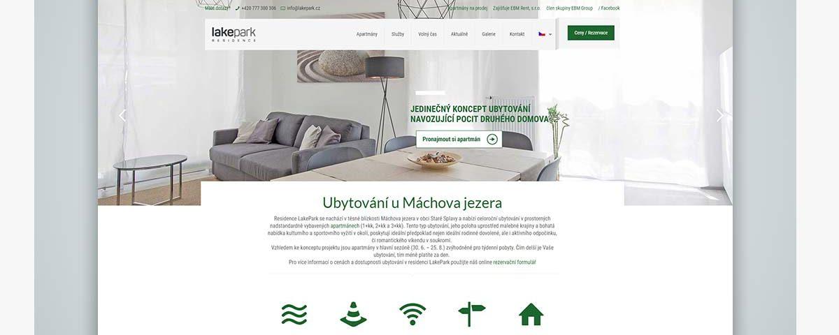 web lakepark.cz